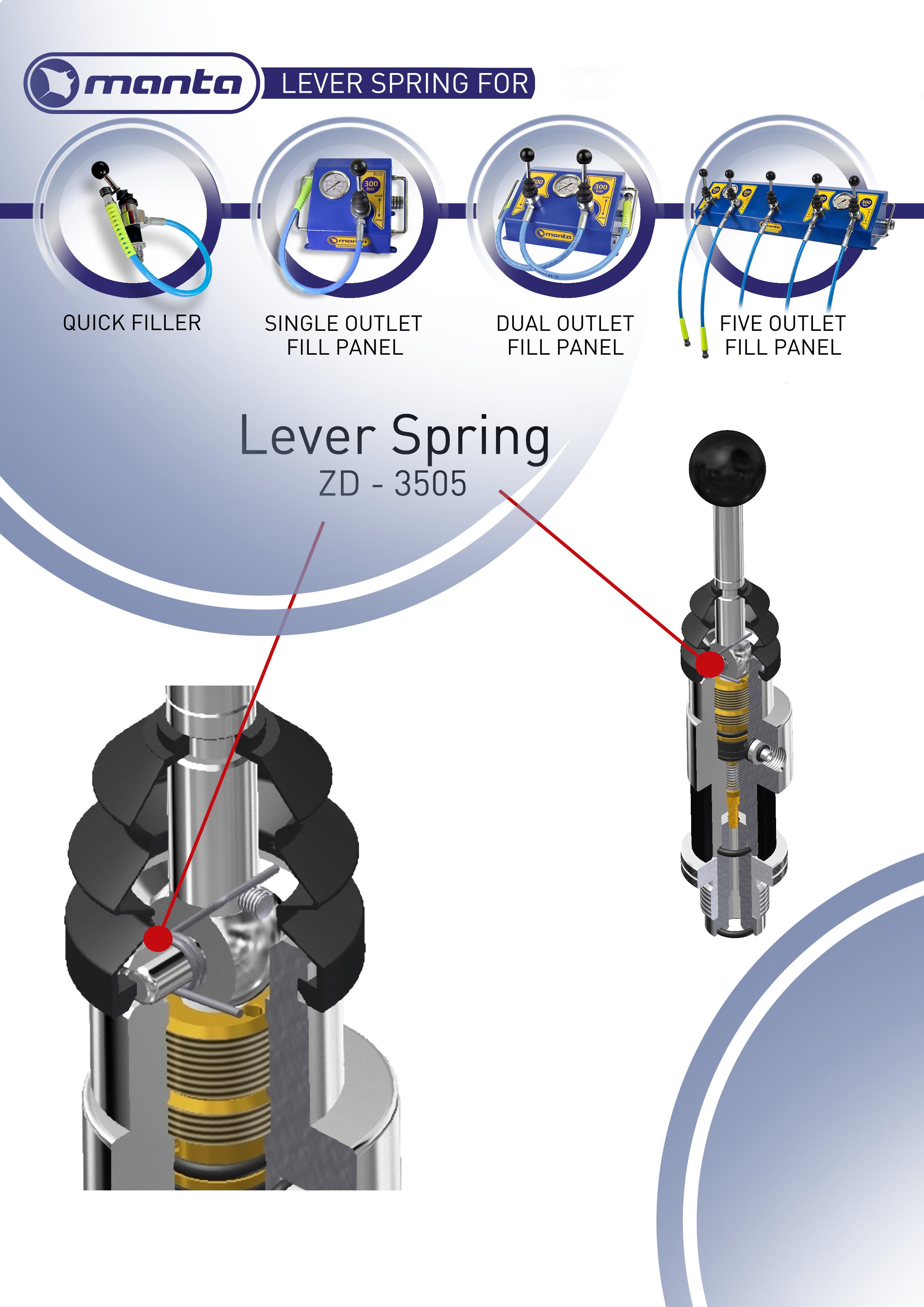 manta lever spring f r quick filler und lever valve. Black Bedroom Furniture Sets. Home Design Ideas