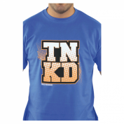 TANKED Orange Dot T-Shirt, blau Bild 3